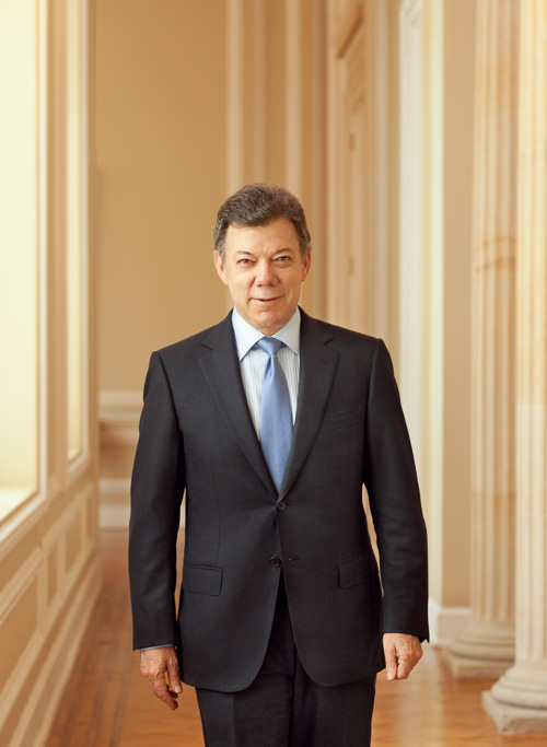 Photo Juan Manuel Santos President of Colombia, Monocle Magazine